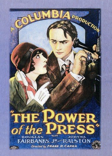DVD : The Power Of The Press (Black & White, Silent Movie)
