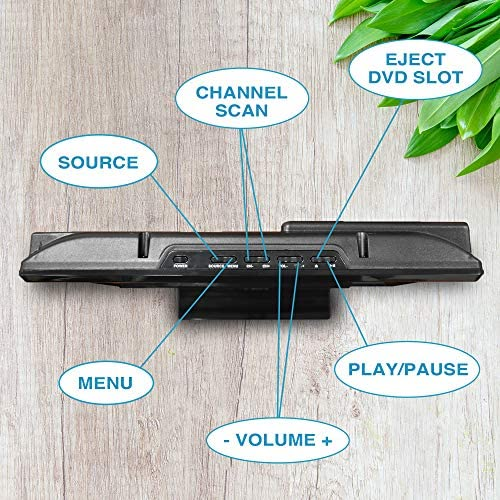 Axess TVD1805-15 LED HDTV Includes AC/DC TV DVD Player HDMI/SD/USB Inputs, Wall Mountable, Stereo Speaker (15.6 Inch) 61o9QrMEf L