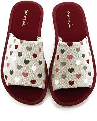 GARZON - Zapatilla CASA P400.093 para: Mujer Color: Burdeos Talla: 43: Amazon.es: Zapatos y complementos