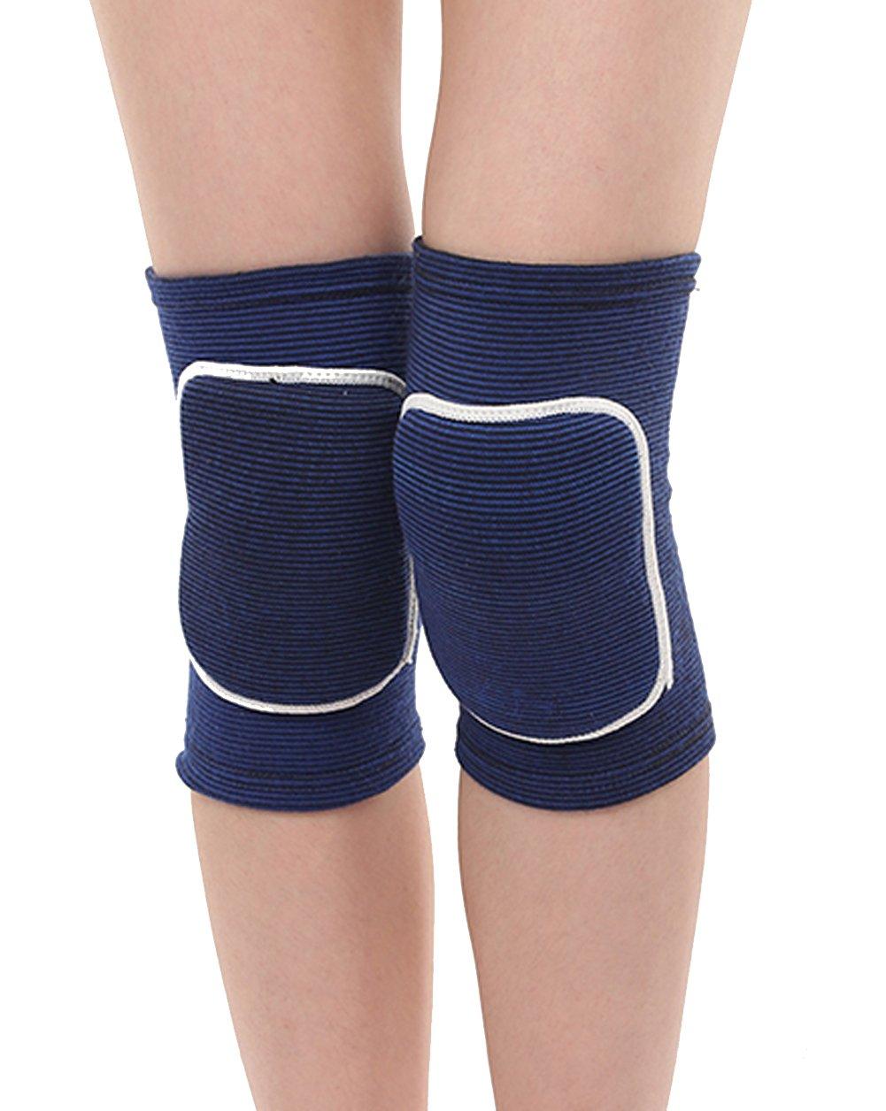 1 Paar Kinder Knieschoner Schutz für Meniskus Bänder und Patella Knie Sportbandage Atmungsaktive Knieorthese Schutz für Knie Bandage Beim Laufen Joggen und Volleyball Kniepolster QICHENGUK