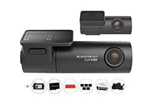 DR590W 2CH 1080P FHD/FHD Front/Rear Dash Cam with 16GB Micro SD Card and Power Magic Pro Hardwire Kit