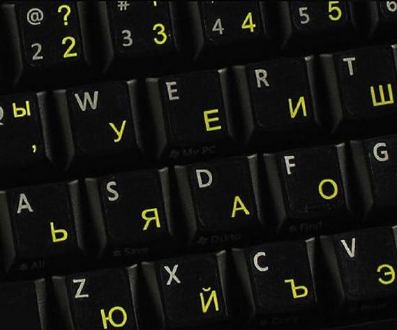 Pegatinas teclado Polaco transparentes con letras AMARILLAS: Amazon.es: Electrónica