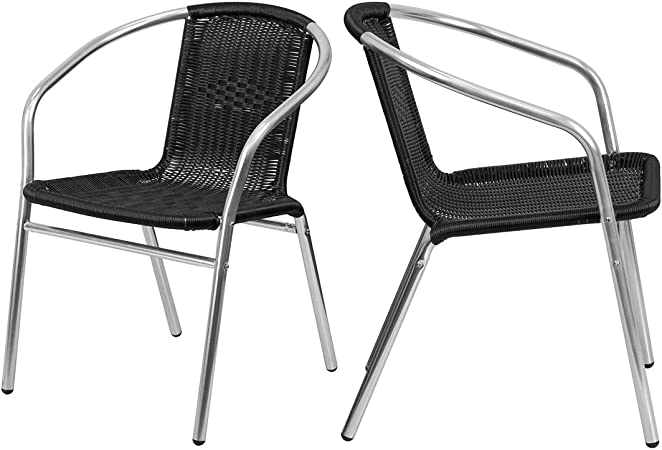 : KLS14 Modern Stacking Chair Rattan Design Seat
