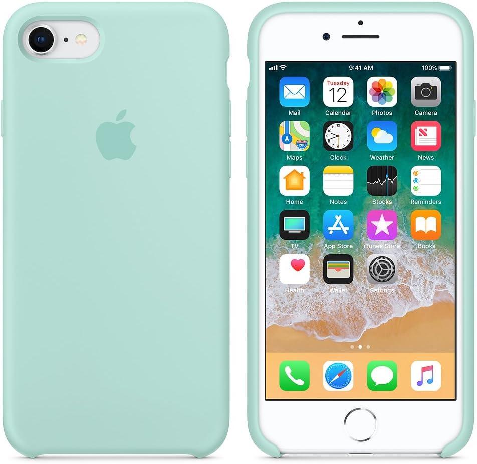 Funda para iPhone 7/8 Carcasa Silicona Suave Colores del Caramelo con Superfino Pelusa Forro,Anti-rasguños Teléfono Caso para Apple iPhone 7/8 (iPhone 7/8, Verde mar)