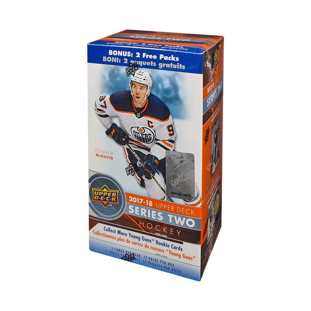 2017-18 Upper Deck Series 2 Hockey 12ct Blaster Box