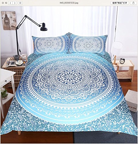 4 Pcs Bohemian Luxury Boho Bedding Crystal Arrays Bedding Quilt Bedspread Mandala Hippie Duvet Cover