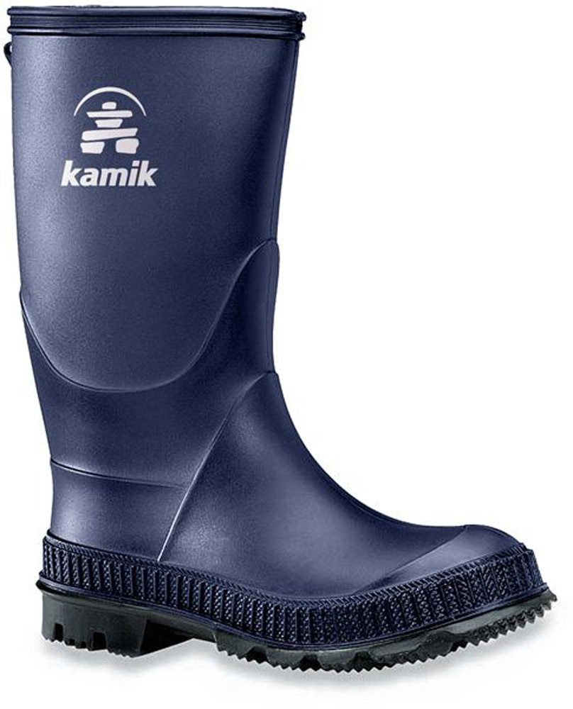 Kamik Kids Stomp Rain Boots Navy/Black Sole 3