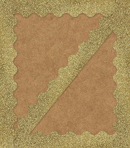- Carson Dellosa Decorative Sparkle and Shine Gold Glitter Scalloped Borders (108319)