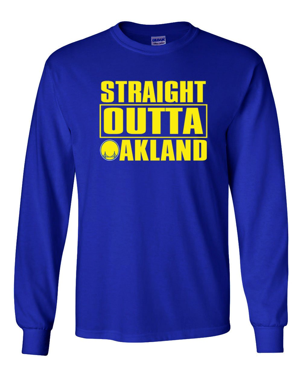 The Silo Long Sleeve Blue Golden State Straight Outta Oakland T-Shirt