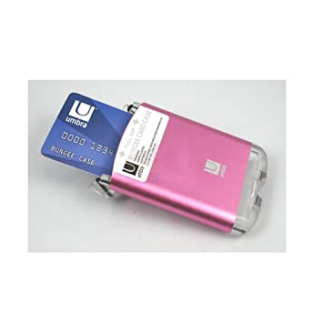 Umbra bungee wallet business card case aluminum metalic micro card umbra bungee wallet business card case aluminum metalic micro card holder pink reheart Images