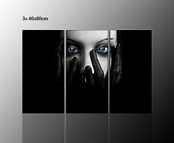 GOTHIK GOTHIC Deko Ideen Wandbild (dark Gothic 3x40x80cm) Dark Angel Auf  ECHTER Leinwand Gerahmt
