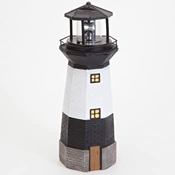 Bits And Pieces   Solar Lighthouse Outdoor Sculpture   Garden Décor And  Lighting   Hand Painted Durable Resin   Illuminate Your Patio, Yard Or  Poolside With ...
