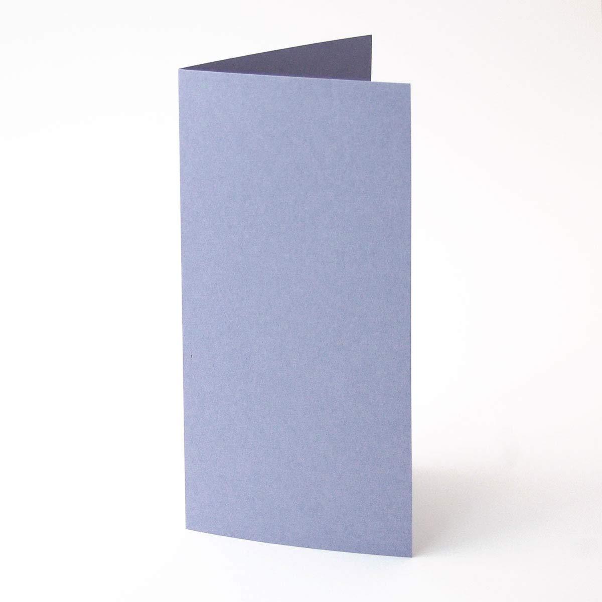 100 fliederblaue Blanko-Grußkarten DIN lang, GmundFarbes Nr.44, 200 g qm, edles Material, durchgefärbter Karton, (21 x 10,5 cm, offen 21 x 21 cm) B00SXEJ3F8 | New Product 2019