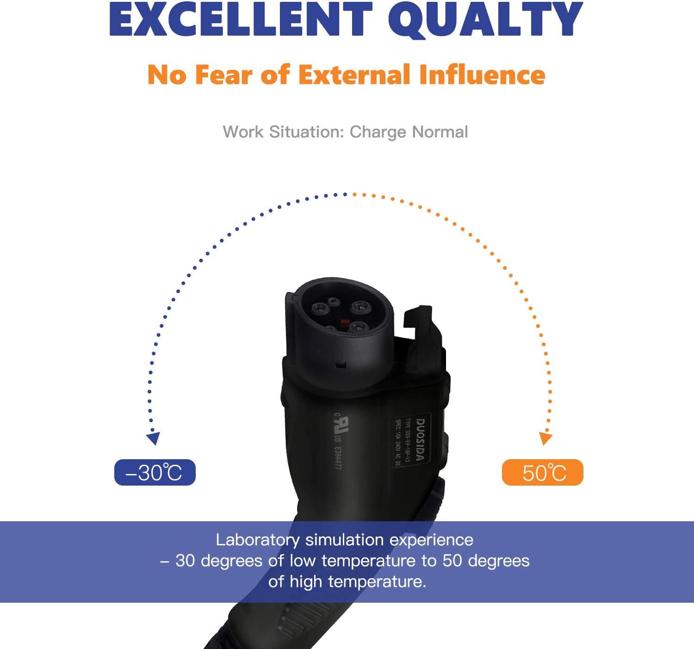 Charging Stations NEMA 14-50 Plug DUOSIDA Level 2 EV Charger ...