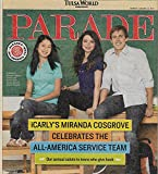 Miranda Cosgrove (iCarly) l Angie Harmon Recipe - August 14, 2011 Parade Magazine