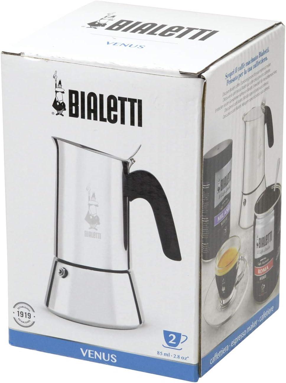 Bialetti Venus Cafetera Italiana Espresso (No Inducción), 2 Tazas, Acero, Plateado: Various Artists: Amazon.es: Hogar