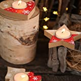 2pcs CHRISTMAS Wooden Candle Holder Pentagram
