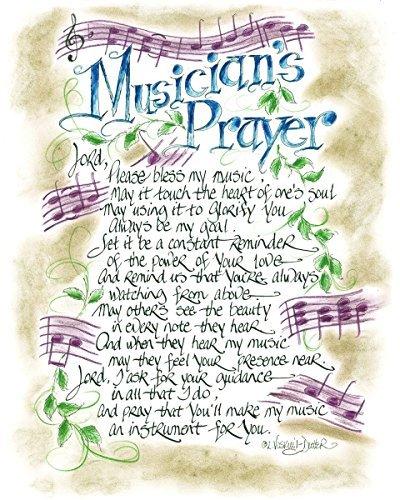 Musicians Prayer 14 x 11 inch Inspirational Wood Decorative Sign Plaque LPG Greetings