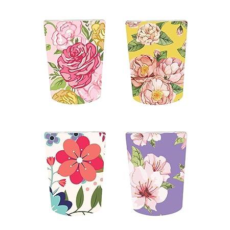 YaYa Cafe� Floral Flower Tempting Decorative Pots Planter Indoor (Only Pots) Set of 4