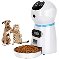 COVONO Automatic Cat Feeder, 3.5L Dog Food Dispenser, up to 4 Meals a Day/Portion Control/Voice Recording/Timer…
