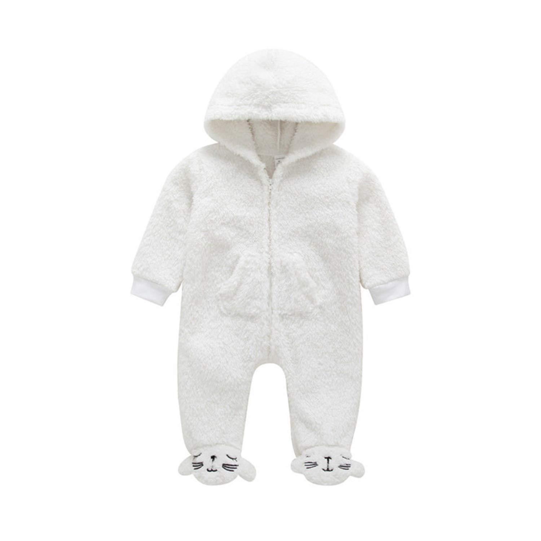 464b37f66 Amazon.com: sportsmanship Newborn Baby Boys Girls Clothes Solid Zipper Long  Sleeve Hooded Romper Toddler Kids Cotton Autumn Cute Jumpsuit one  Pieces(12M ...