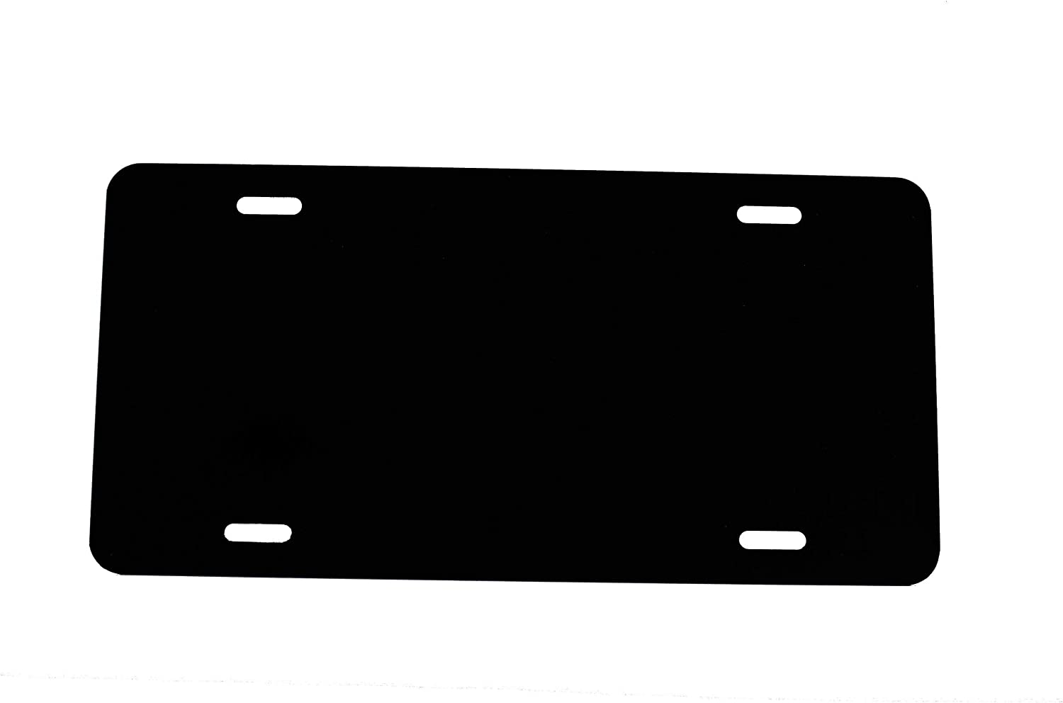 Laser Cut LICENSEPLATETAGS.COM WHITE 0.5mm Aluminum Blank License Plate MADE IN USA 12x6 .020 Gauge