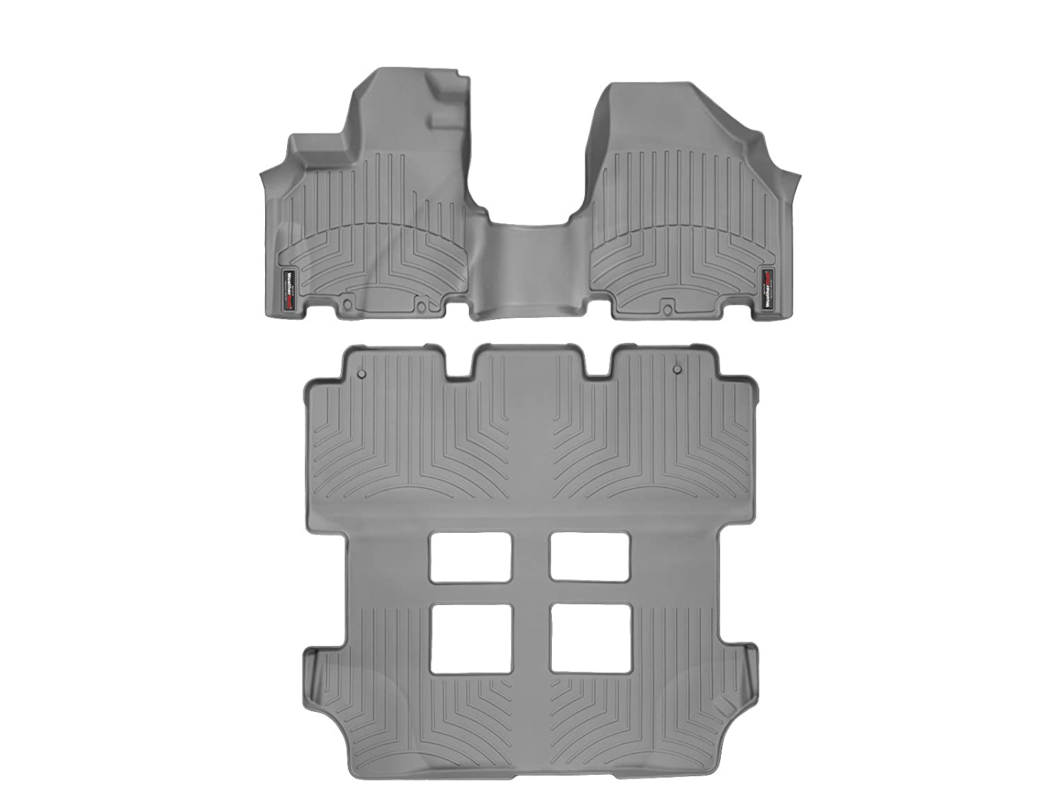 Weathertech floor mats honda odyssey 2016 - Amazon Com 2011 2015 Honda Odyssey Weathertech Floor Liners Full Set Includes 1st And 2nd Row Over The Hump Grey Automotive