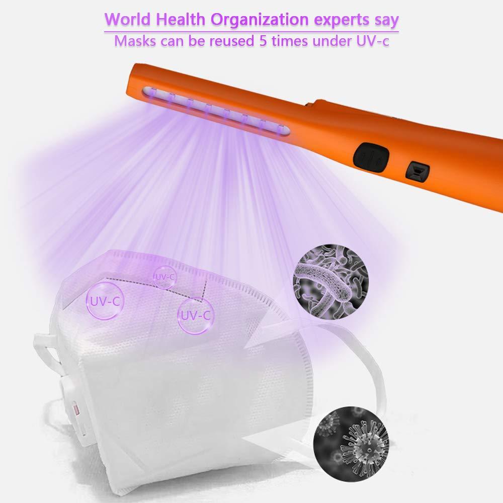 Lámpara de desinfección UV portátil con carga USB