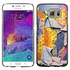 Paccase / SLIM PC / Aliminium Casa Carcasa Funda Case Cover para - Ripped Patterns Deep Fashion - Samsung Galaxy S6 SM-G920