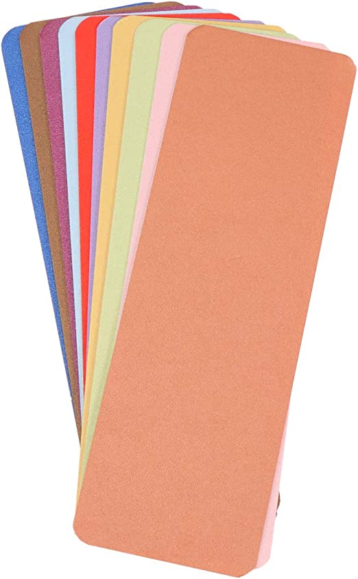 bianco STOBOK Segnalibri cartoncino bianco 24 pezzi Segnalibri cartoncino bianco con nappa