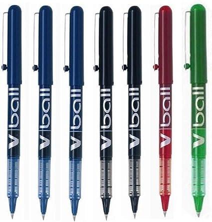 comprar Pilot-7 Rotuladores Pilot V-BALL 0,5 (3 Azules, 2 Negros,1 Rojo y 1 Verde)