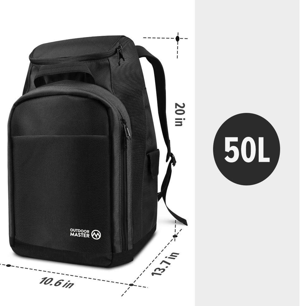 Amazon.com: OutdoorMaster - Bolsa para botas de esquí y ...