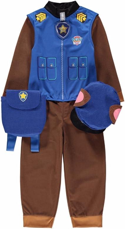 Paw Patrol – Disfraz de Chase de La patrulla canina, para 5-6 años ...