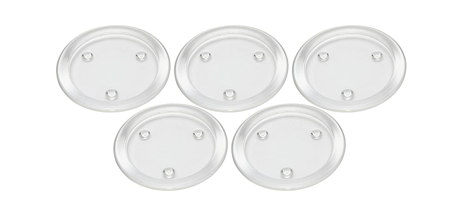 Obecome Round Clear Glass Pillar Candle Holder Plate for Wedding,Set of 5 Z0128