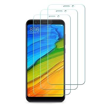 [3-Unidades] Xiaomi Redmi 5 Plus Protector de Pantalla Hepooya Xiaomi Redmi 5