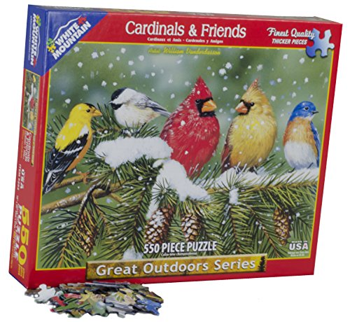 White Mountain Puzzles Cardinals and Friends - 550 Piece Jigsaw - To Make Costumes Potter Harry Easy