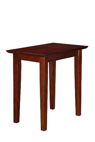 Atlantic Furniture Shaker Chair Side Table, Walnut, 22 x 14