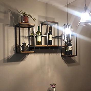 Z&YQEisen Kunst weinregal Wand hängen massivholz Kreative ...