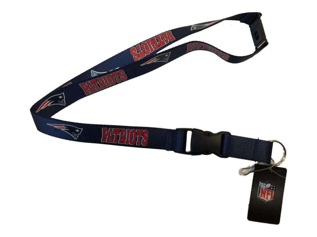 New England Patriots NFL Aminco Navy耐久性BreakawayバックルLanyard   B01LYQWZ6K