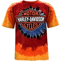 Harley-Davidson Men's Bar & Shield Logo Tie-Dye Short Sleeve Crew-Neck T-Shirt