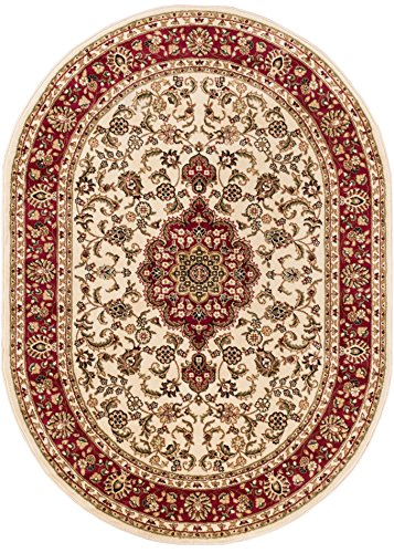 Well Woven Barclay Medallion Kashan Ivory Traditional Area Rug 5'3