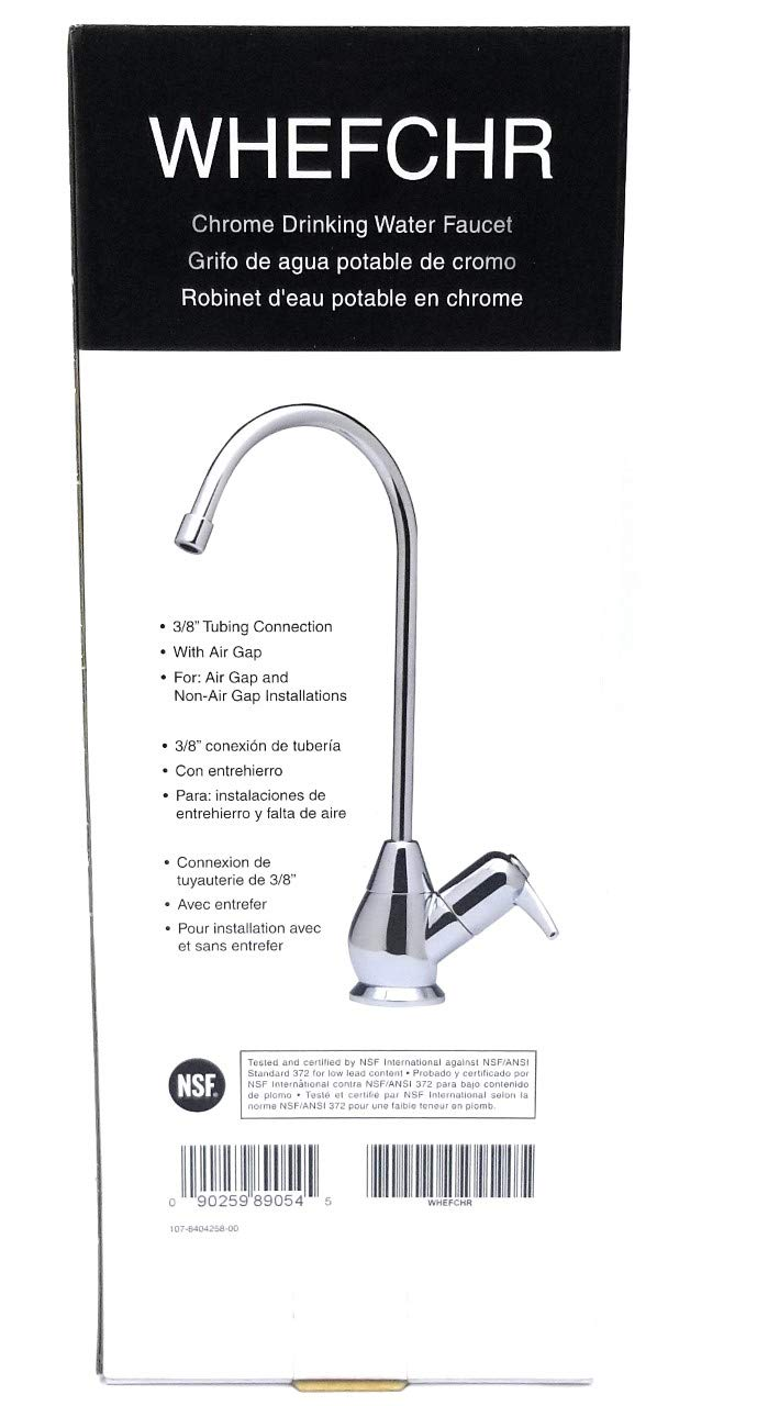 North Star Water Filtration Ecopure Whefchr Chrome Finish Decorator Drinking Counter Faucet NORTHSTAR
