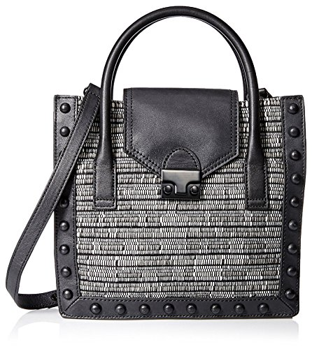 Top Loeffler Structured Black Women's Handle Bag White Randall in qrftrnS