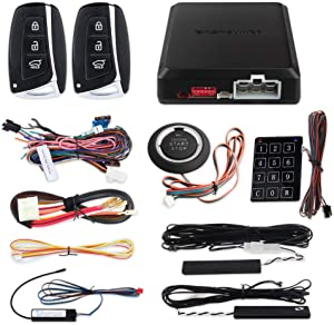 EASYGUARD EC002-HY Rolling Code PKE car Alarm System Passive keyless Entry Remote Starter Touch Password Entry keyless go