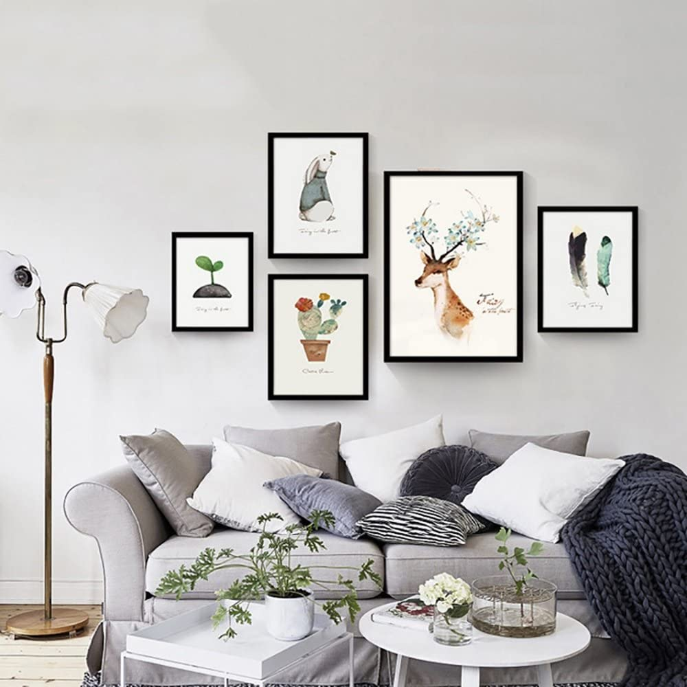 Color : F , Size : 5070 Decorative drawing minimalistic sofa background wall mural cartoon wall painting photo wall Modern Nordic living room