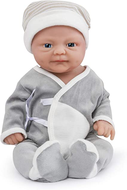 Vollence 14 Inch Realistic Reborn Baby Doll Pvc Free Solid Platinum Liquid Full Body Silicone Real Baby Dolls Lifelike Soft Handmade Silicone Baby Doll With Clothes Boy Toys Games