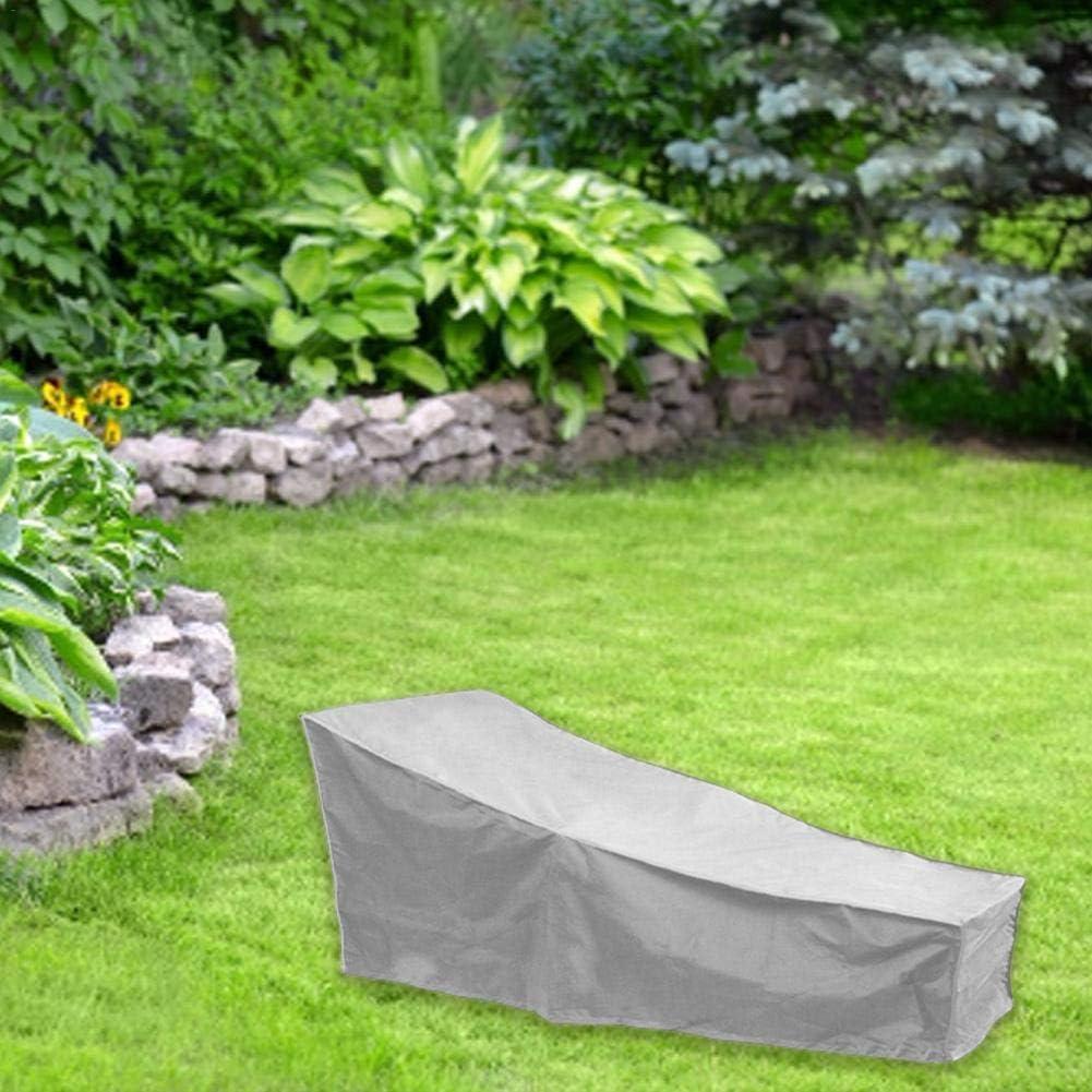 208 x 76 x 41//79 cm Bezug f/ür Sonnenliege Cherishly Bezug f/ür Gartenliege Wasserdicht UV-Schutz, Favorable Silberbeschichteter Oxford-Stoff
