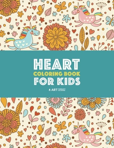 Detailed Pattern - Heart Coloring Book For Kids: Detailed Heart Patterns With Cute Owls, Birds, Butterflies, Cats, Dogs, Bears & Unicorns; Relaxing Designs For Older Kids
