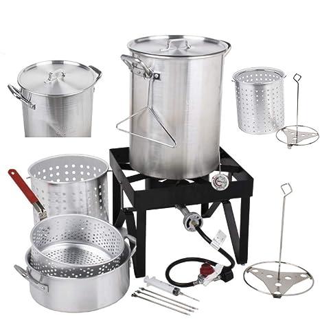 Amazon.com: Holiday Master 30QT kit de freidora de pavo, de ...