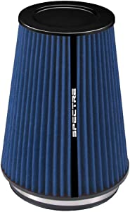 Spectre Universal Clamp-On Air Filter: High Performance, Washable Filter: Round Tapered; 6 in (152 mm) Flange ID; 10.25 in (260 mm) Height; 7.719 in (196 mm) Base; 5.219 in (133 mm) Top, SPE-HPR9881B